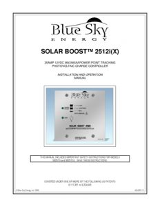 Blue Sky Energy sb2512ix