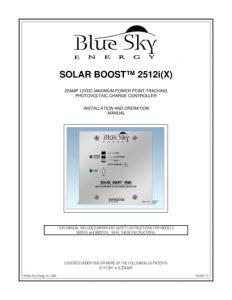Blue Sky Energy sb2512ix