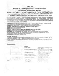 thumbnail of EWC-30 Manual