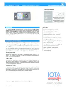 thumbnail of Iota IQ4 Smart Charge Data Sheet