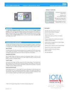 thumbnail of Iota IQ4 Smart Charge Data Sheet