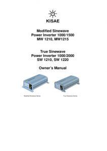 thumbnail of KISAE Inverter Manual