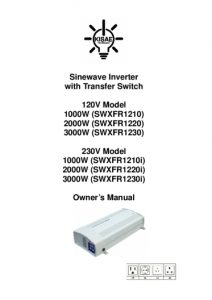 thumbnail of KISAE InverterCharger Manual