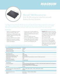 thumbnail of ME-MicroGT-500 Data Sheet