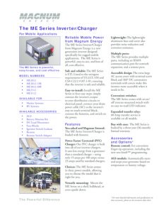 thumbnail of Magnum Energry The ME Series InverterCharger For Mobile Applications