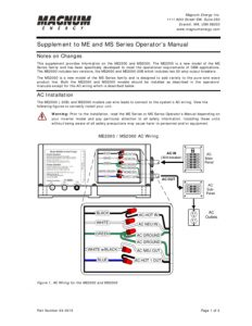 thumbnail of Magnum Energy Supplement to ME and MS Series Operators Manual