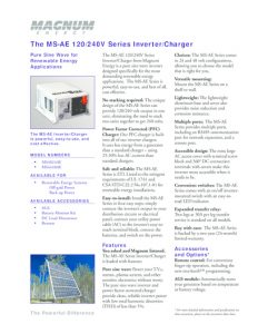 thumbnail of Magnum Energy The MS-AE 120240V Series InverterCharger