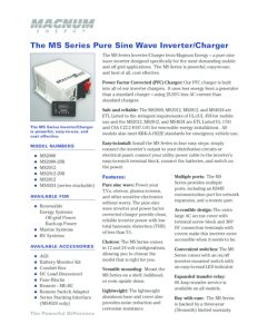 thumbnail of Magnum Energy The MS Series Pure Sine Wave InverterCharger