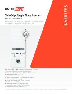 thumbnail of SE-Grid-Tie Inverter Data Sheet