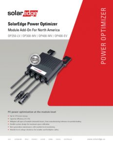 thumbnail of SE-Power Optimizer Data Sheet