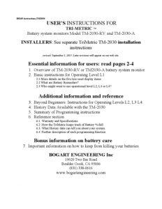 thumbnail of TriMetric TM-2030 Manual