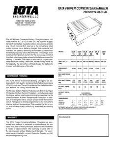 Iota DLS-12V_manual