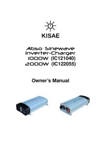 Kisae Abson Sinewave Inverter-charger IC121040 IC122055 manual