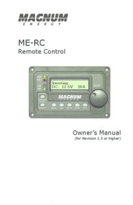 Magnum Energy ME-RC manual