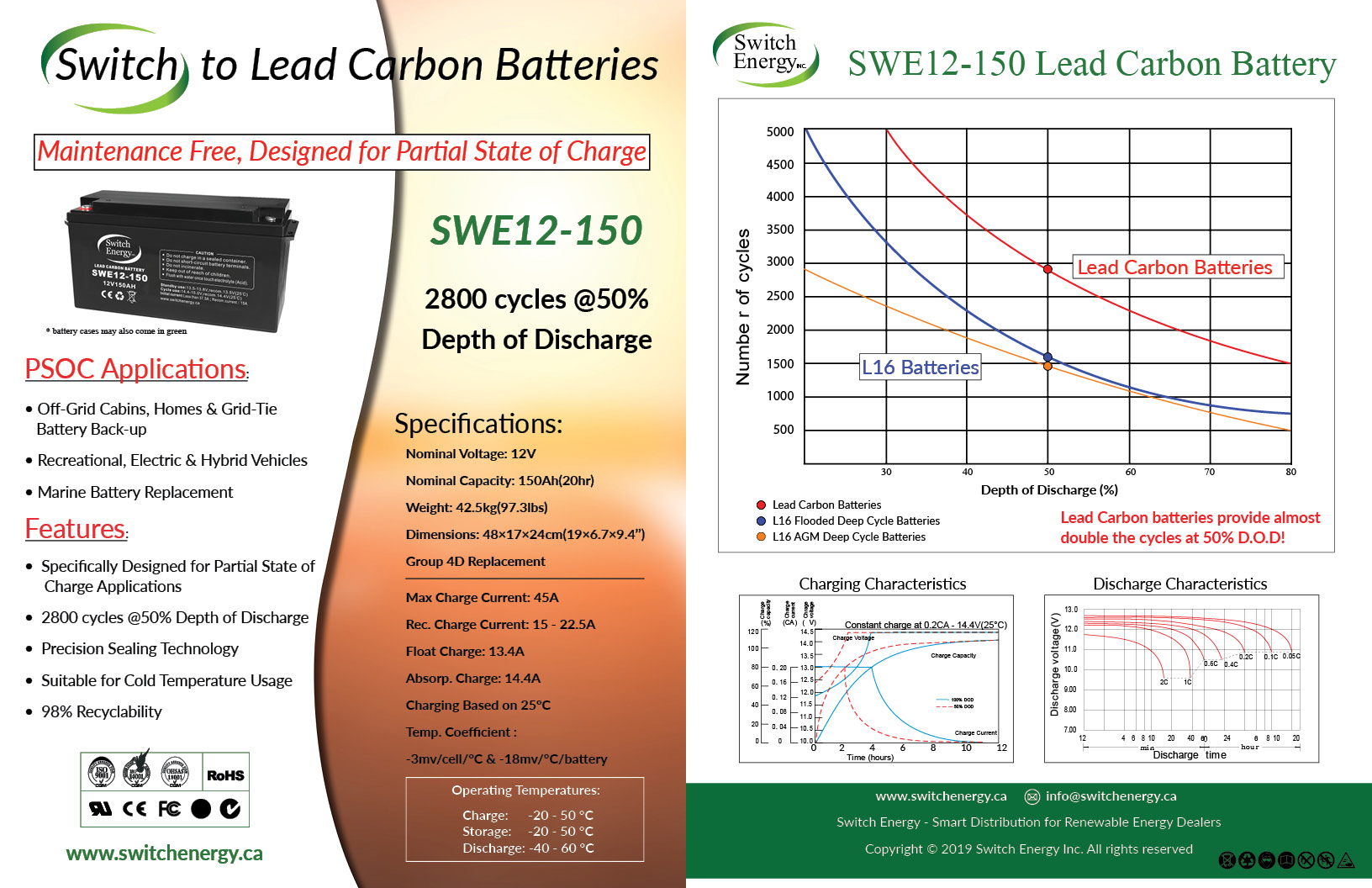 12V Lead Carbon Batteries